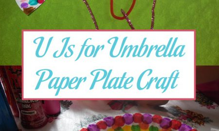 U Is for Umbrella Paper Plate Craft