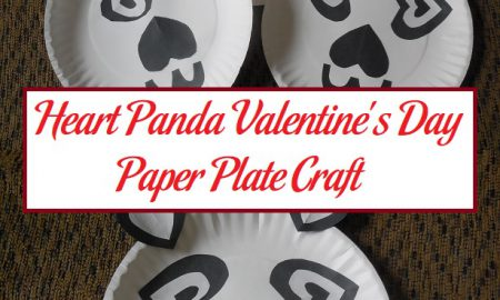 Heart Panda Valentine's Day Paper Plate Craft