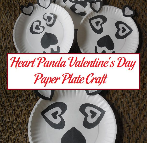 sc 1 st  The Parenting Patch & Heart Panda Valentineu0027s Day Paper Plate Craft | Parenting Patch