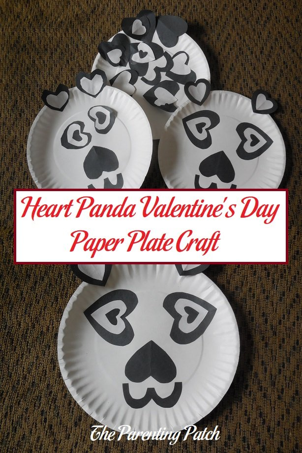 Heart Panda Valentineu0027s Day Paper Plate Craft & Heart Panda Valentineu0027s Day Paper Plate Craft | Parenting Patch
