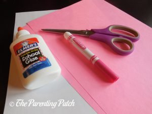 Materials for Heart Flamingo Valentine's Day Craft