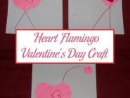 Heart Flamingo Valentine's Day Craft