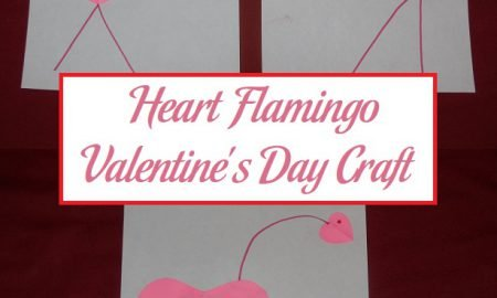 Heart Flamingo Valentine's Day Craft