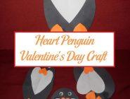Heart Penguin Valentine's Day Craft