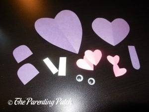 Paper Pieces for the Heart Hippo Valentine's Day Craft