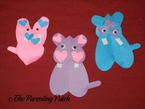 Finished Heart Hippo Valentine's Day Crafts