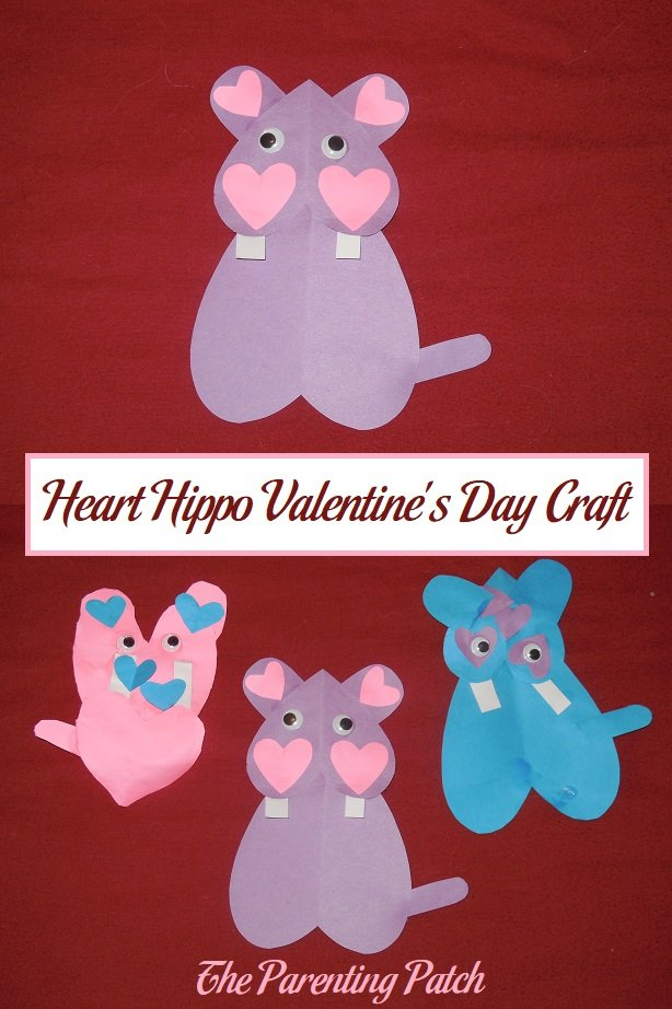 Heart Hippo Valentine's Day Craft