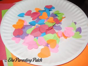 Small Hearts for Heart Fish Valentine's Day Paper Plate Craft