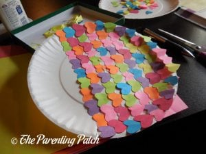 Small Hearts on the Heart Fish Valentine's Day Paper Plate Craft