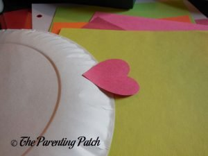 Medium Heart on the Heart Fish Valentine's Day Paper Plate Craft