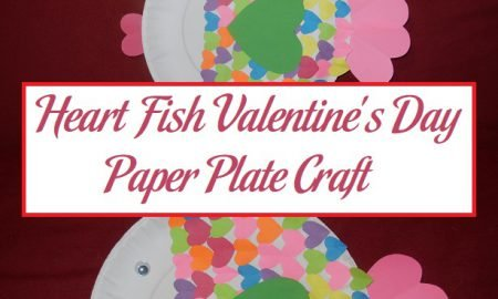 Heart Fish Valentine's Day Paper Plate Craft