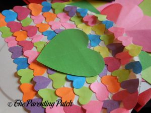 Large Heart on the Heart Fish Valentine's Day Paper Plate Craft