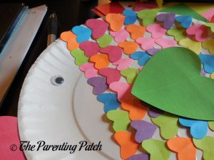 Wiggle Eye on the Heart Fish Valentine's Day Paper Plate Craft
