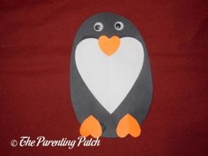 Heart Penguin Valentine's Day Craft
