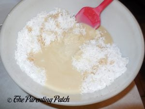 Sweetened Condensed Milk for Gluten-Free Chocolate Chip Coconut Macaroon Cookies