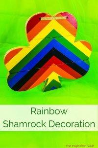 Rainbow Shamrock Decoration