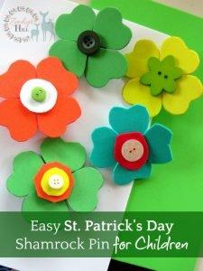 Easy St. Patrick's Day Shamrock Pin for Children