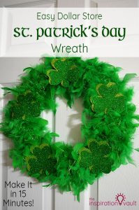 Easy Dollar Store St. Patrick's Day Wreath