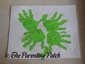 Handprint Four-Leaf Clover Toddler St. Patrick's Day Craft