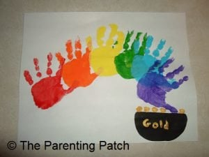 Handprint Rainbow St. Patrick's Day Craft
