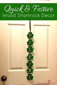 Quick & Festive Wood Shamrock Décor