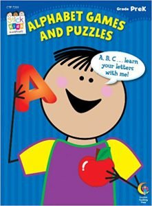 Alphabet Games and Puzzles Stick Kids Workbook, Grade PreK (Stick Kids Workbooks)
