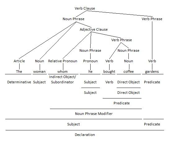 Relative Pronoun Grammar Tree