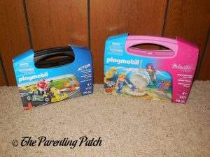 PLAYMOBIL Go-Kart Racer Carry Case and Magical Mermaids Carry Case