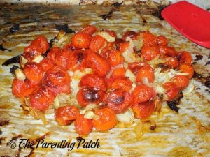 Roasted Tomatoes and Onions for Roasted Cherry Tomato Soup