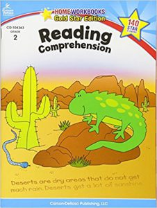 Reading Comprehension, Grade 2 Gold Star Edition (Home Workbooks)