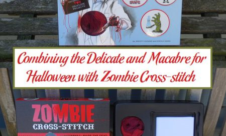 Combining the Delicate and Macabre for Halloween with Zombie Cross-stitch