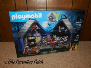 Front of Box of PLAYMOBIL Take Along Haunted House