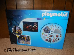 Back of Box of PLAYMOBIL Take Along Haunted House