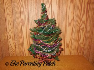 Displaying the Upcycled Beaded Christmas Tree Craft