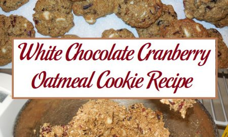 White Chocolate Cranberry Oatmeal Cookie Recipe
