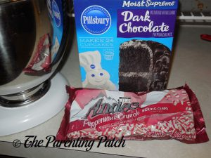 Dark Chocolate Cake Mix and Andes Peppermint Crunch Baking Chips for Dark Chocolate Andes Peppermint Crunch Cookies