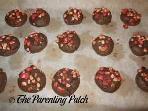 Baked Dark Chocolate Andes Peppermint Crunch Cookies