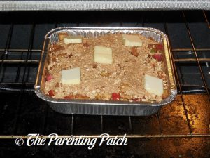 Baking the Apple-Zucchini Crisp
