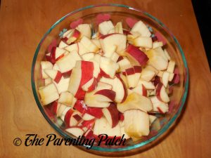Diced Apples for Apple-Zucchini Crisp
