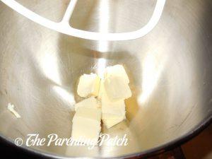 Butter for Peanut Butter Red Velvet Blossom Cookies