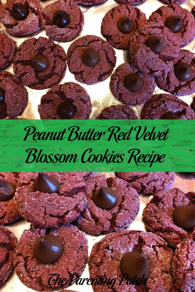 Peanut Butter Red Velvet Blossom Cookies Recipe
