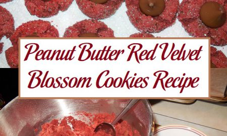 Peanut Butter Red Velvet Blossom Cookies Recipe