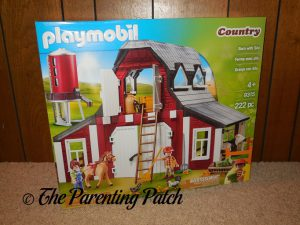 Front of Box of PLAYMOBIL Barn with Silo