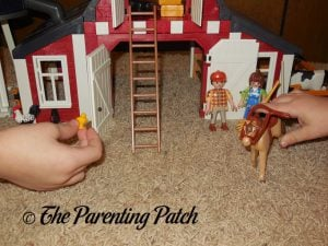 Playing with the PLAYMOBIL Barn with Silo 4