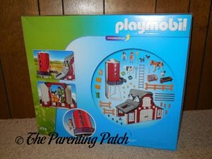 Back of Box of PLAYMOBIL Barn with Silo