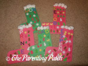 Construction Paper Christmas Stocking Craft