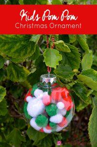 Kids Pom Pom Christmas Ornament