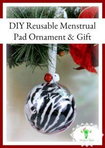 Reusable Menstrual Pad Ornament