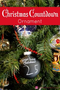Christmas Countdown Ornament