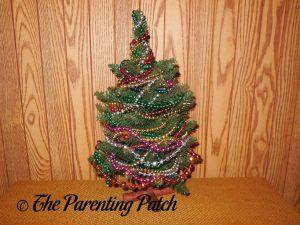 Upcycled Beaded Christmas Tree Craft